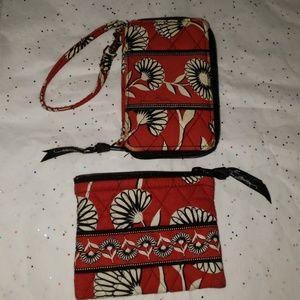 2pc Vera Bradley wallet set